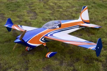 "NEW Skywing 73"" Extra 300 V2-B   ORANGE/BLUE"